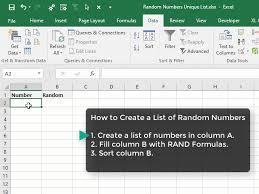 Wie kann man in Excel Zufallszahlen ohne Duplikate generieren